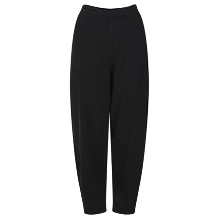 Sahara Textured Linen Cropped Trouser - Black