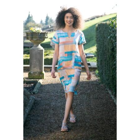 Foil Illustrated History Dress - Multicoloured