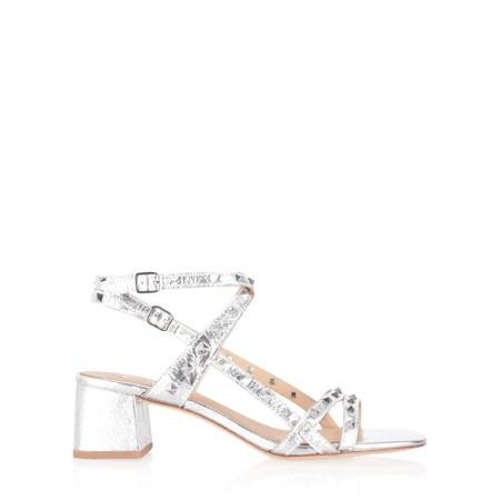 Ash Iman Block Heel Strappy Sandal - Silver