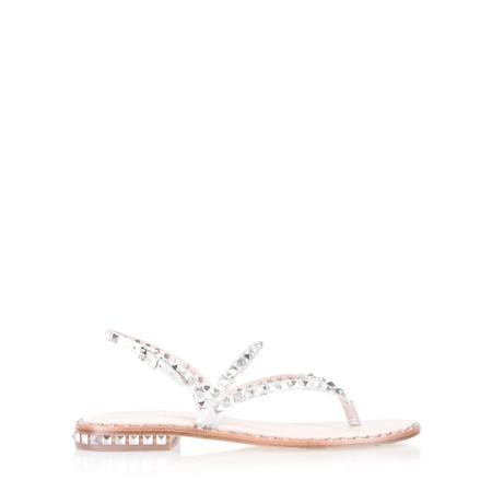 Ash Peps Strappy Stud Sandal - Silver