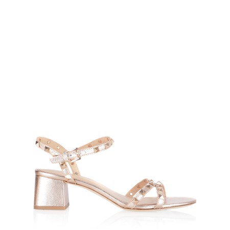 Ash Iggy Strappy Block Heeled Sandal - Metallic