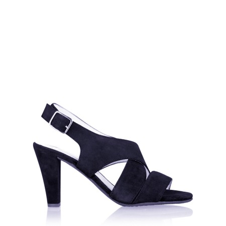 Gemini Label Shoes Valkyrie Navy Suede Sandal - Blue
