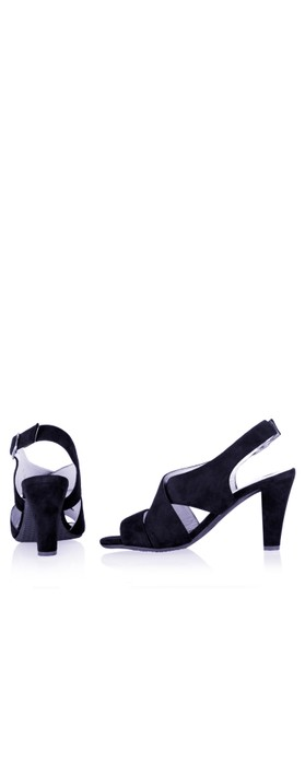 Gemini Label Shoes Valkyrie Navy Suede Sandal Navy