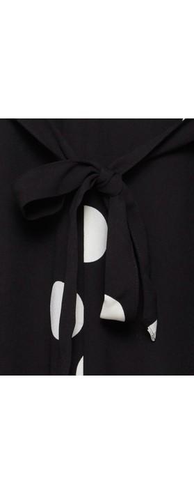 ICHI Bobby Large Spot Jumpsuit Black