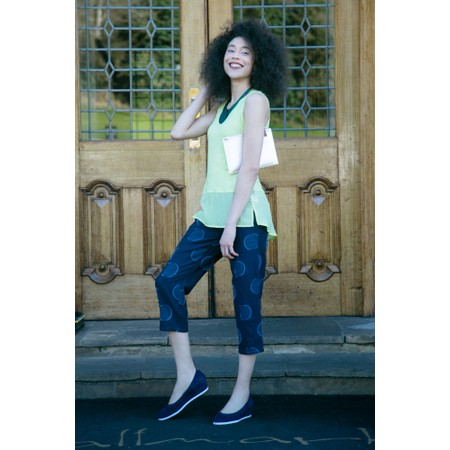 Foil Layered Look Silk Front Top - Green