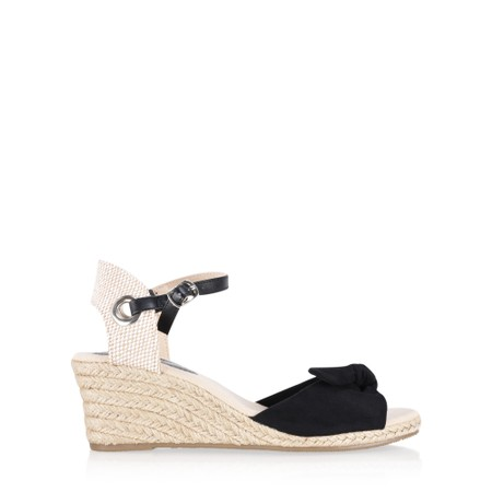 KimShu Tillie Espadrille Wedge  - Black