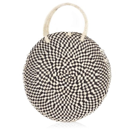Betsy & Floss Antibes Round Basket Bag - Black