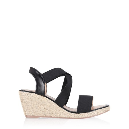 Spot On Liberty Wedge sandal  - Black