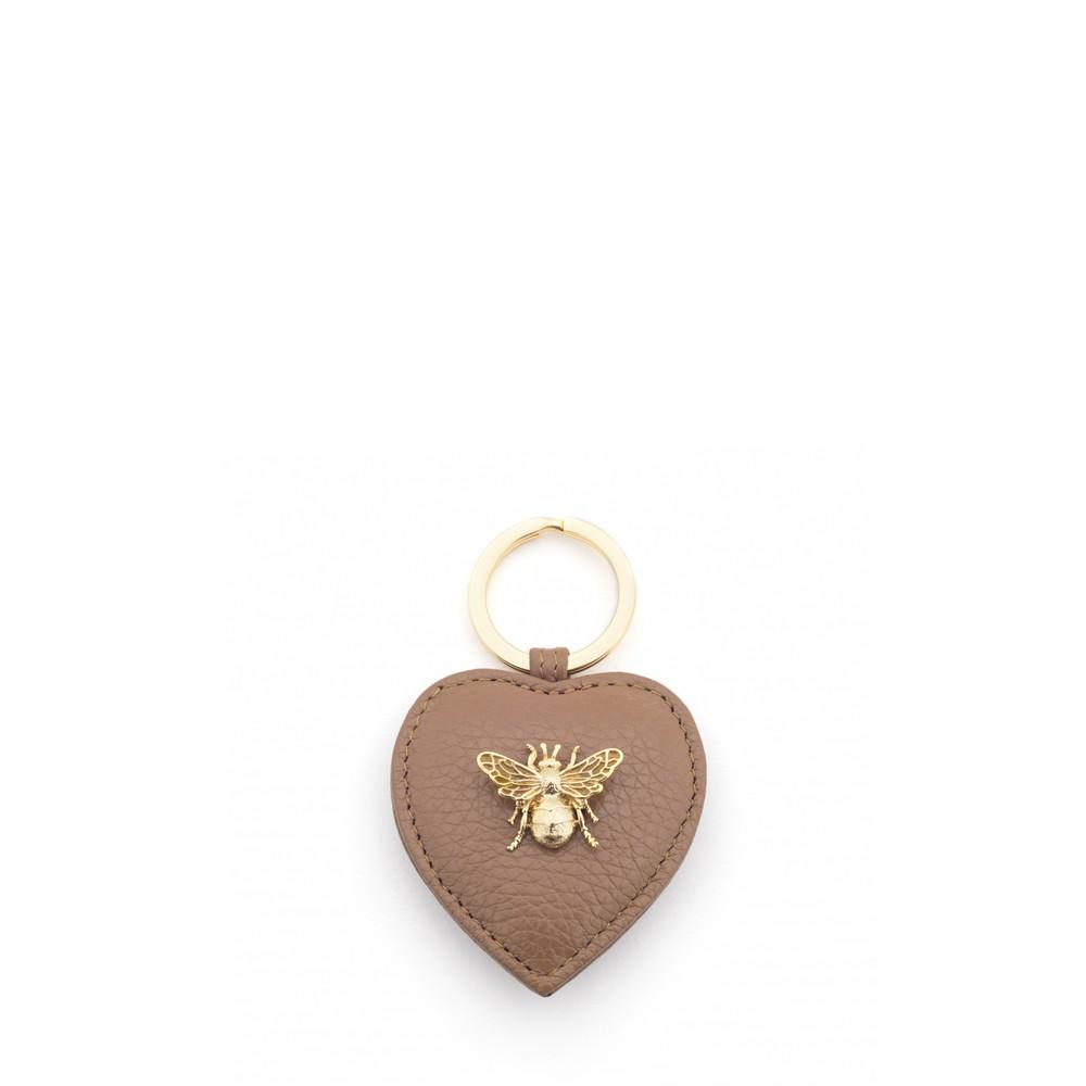Bill Skinner Bumble Bee Heart Keyring Tan