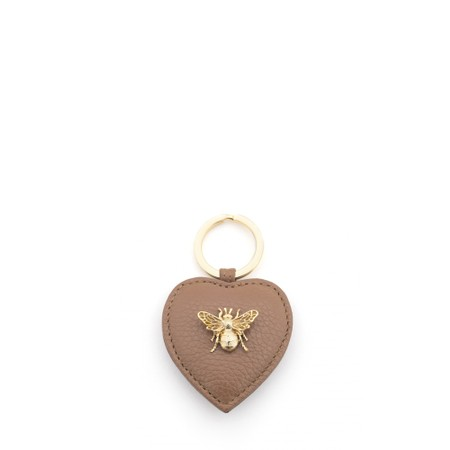 Bill Skinner Bumble Bee Heart Keyring - Brown
