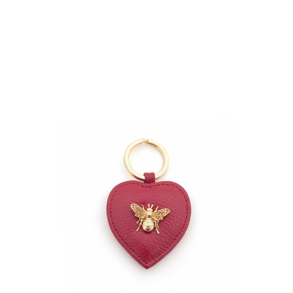 Bill Skinner Bumble Bee Heart Keyring Red