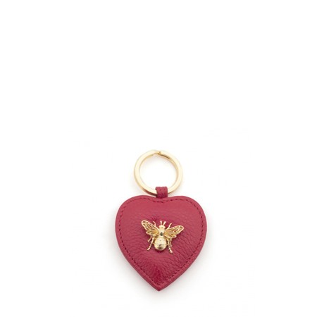 Bill Skinner Bumble Bee Heart Keyring - Red
