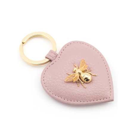 Bill Skinner Bumble Bee Heart Keyring - Pink