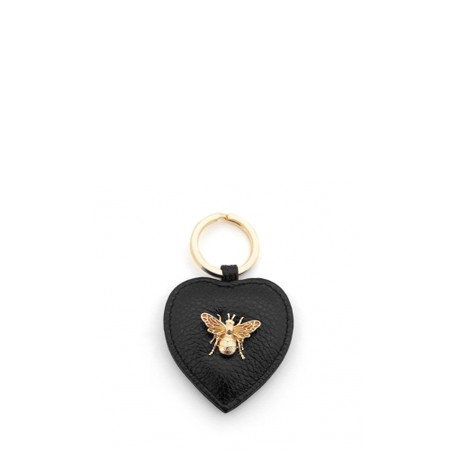Bill Skinner Bumble Bee Heart Keyring - Black