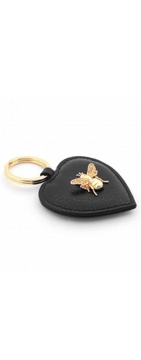 Bill Skinner Bumble Bee Heart Keyring Black