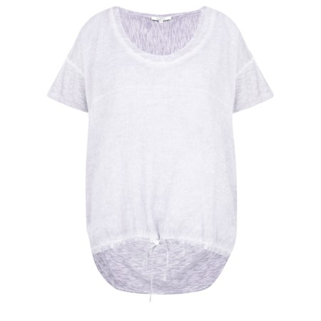 Sandwich Clothing Drawstring Hem Cotton Slub Top - Purple