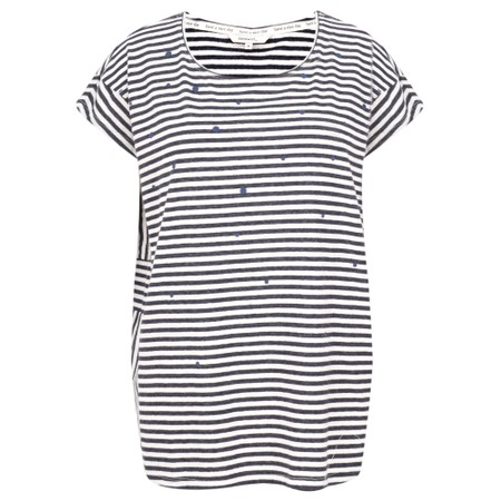 Sandwich Clothing Stripes & Spot T Shirt - Blue