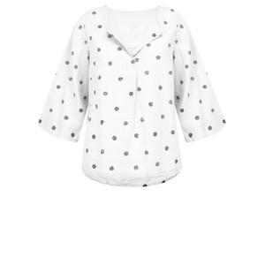 Sandwich Clothing Linen Dot Print Top