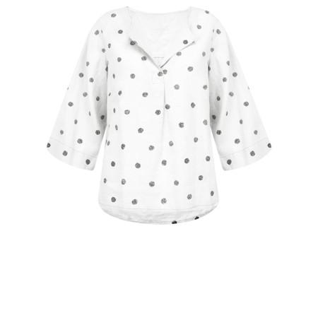 Sandwich Clothing Linen Dot Print Top - White