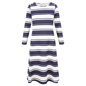 Sandwich Clothing Dot Jacquard Striped Dress