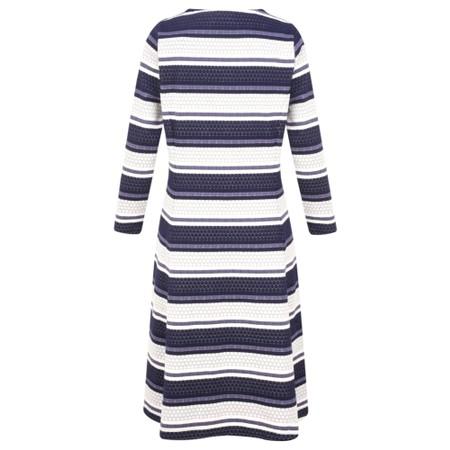Sandwich Clothing Dot Jacquard Striped Dress - Blue