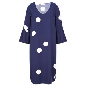 Sandwich Clothing Large Dot Frill Sleeve Dress