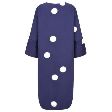 Sandwich Clothing Large Dot Frill Sleeve Dress - Blue