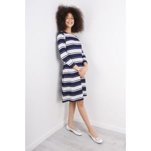 Sandwich Clothing Dot Jacquard Striped Dress