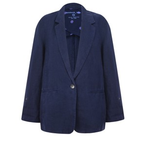 Sandwich Clothing Linen Blazer Jacket