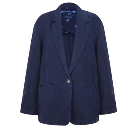 Sandwich Clothing Linen Blazer Jacket - Blue