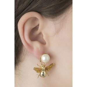Bill Skinner Colletidae Bee Pearl Drop Earring