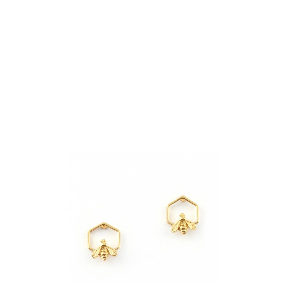 Bill Skinner Hylaeus Bee Stud Earring  Gold