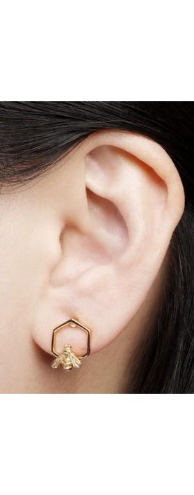 Bill Skinner Hylaeus Bee Stud Earring  Gold