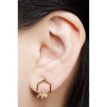 Bill Skinner Hylaeus Bee Stud Earring  - Gold