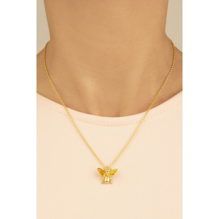 Bill Skinner Buff Bee Mini Pendent  - Gold