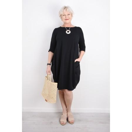 Mama B Golfo Izmir Plain Dress - Black