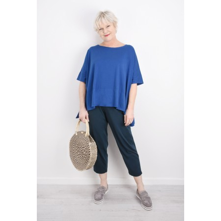 Mama B Raro Izmir Plain Trouser - Blue