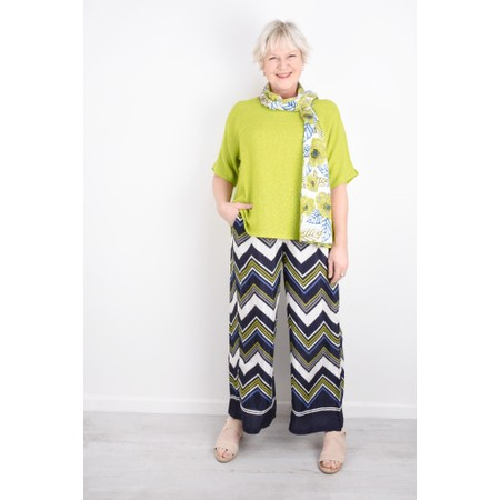 Masai Clothing Perinus Large Zigzag Print Trouser - Green