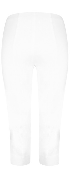 Robell Marie 07 White Cropped Trouser White 10