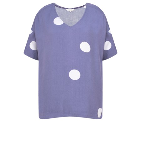 Sandwich Clothing Large Dot Top - Purple