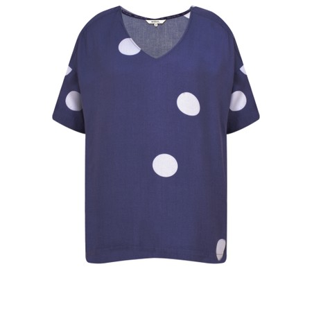 Sandwich Clothing Large Dot Top - Blue