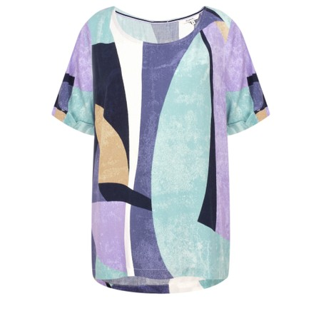 Sandwich Clothing Abstract Colour Block Top - Green