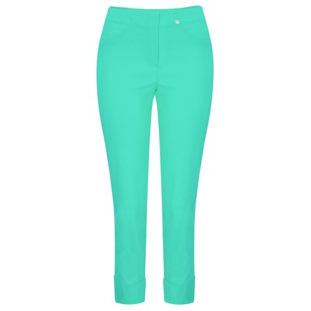 Robell  Bella 09 Ankle Length 7/8 Cuff Trouser - Green