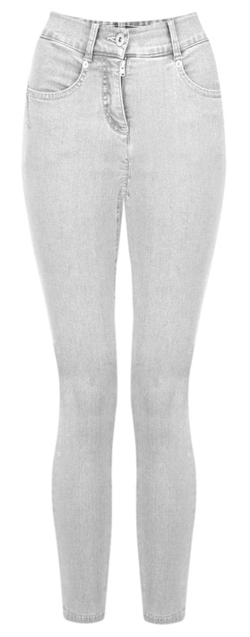 Robell Star 09 Light Grey Power Stretch Cropped Skinny jean Light Grey