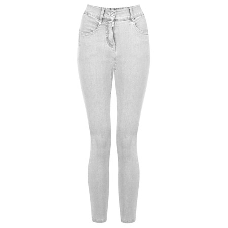 Robell Star 09 Light Grey Power Stretch Cropped Skinny jean - Grey