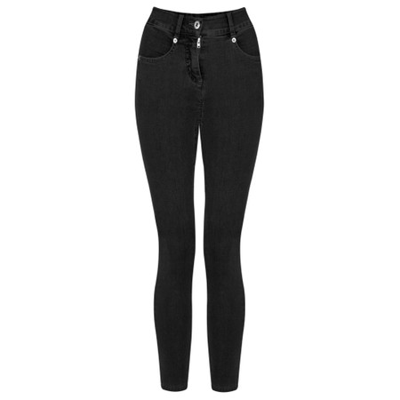 Robell Star 09 Black Power Stretch Cropped Skinny jean - Black