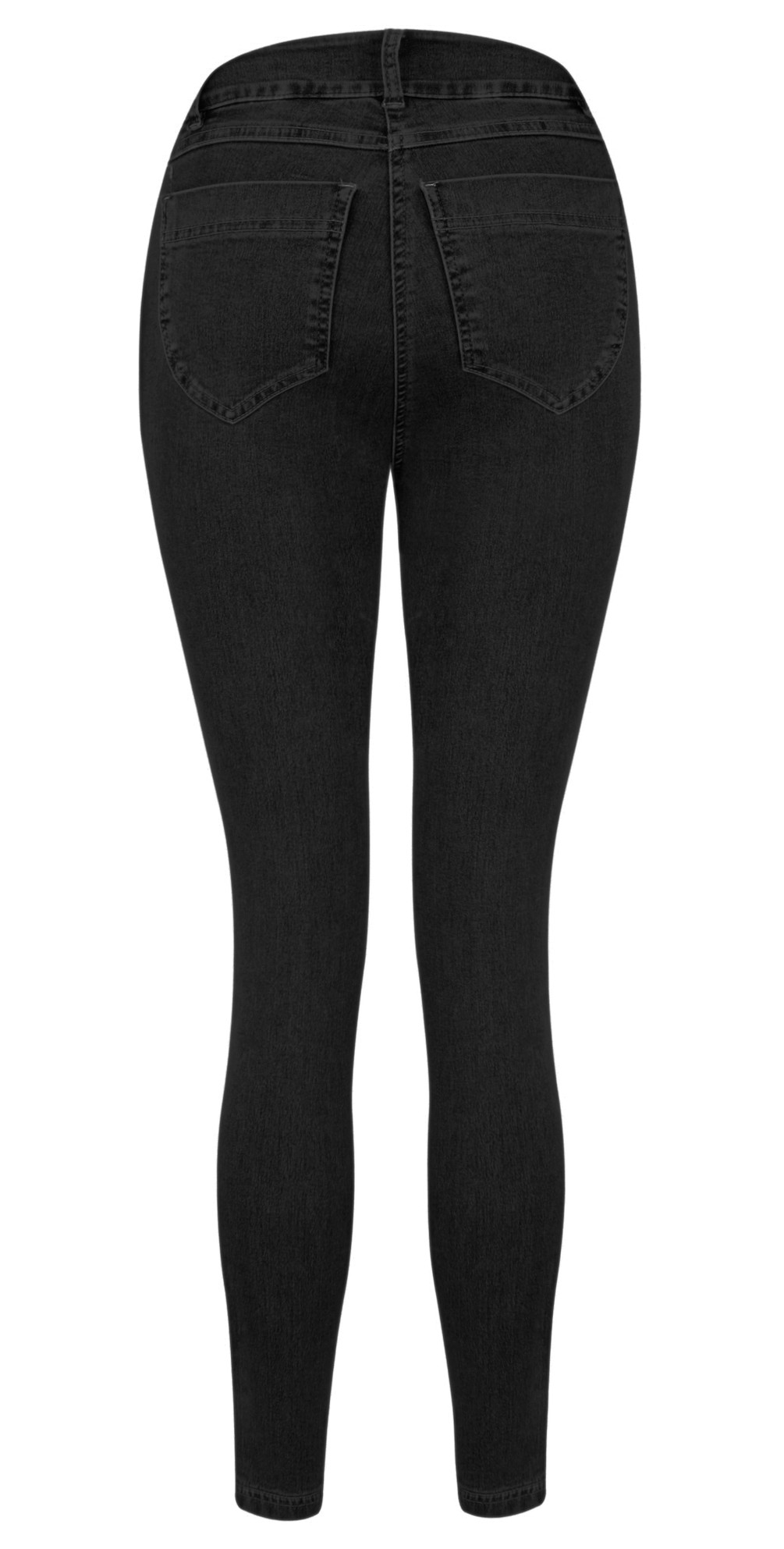 Star 09 Black Power Stretch Cropped Skinny jean main image