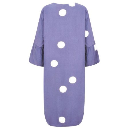 Sandwich Clothing Large Dot Frill Sleeve Dress - Purple