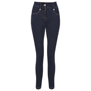 Robell  Star 09 Navy Power Stretch Cropped Skinny jean