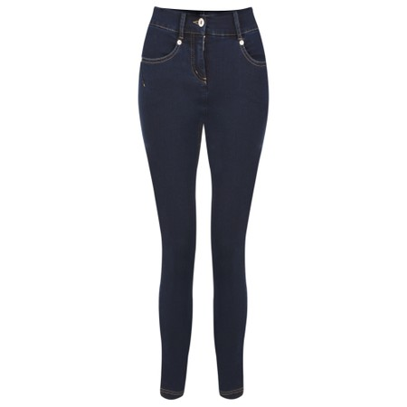 Robell Star 09 Navy Power Stretch Cropped Skinny jean - Blue